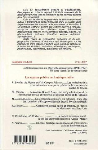 4eme LES ESPACES PUBLICS EN AMERIQUE DU SUD