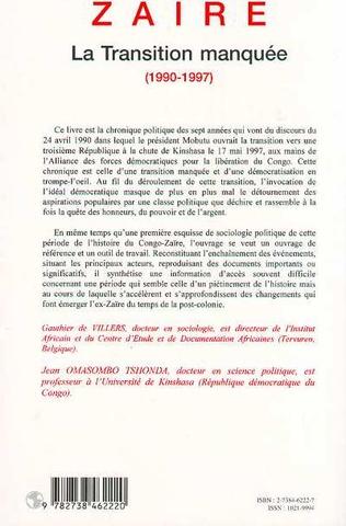 4eme Zaire la Transition Manquée 1990-1997