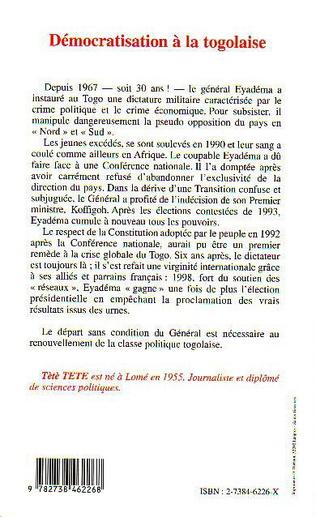 4eme Démocratisation à la Togolaise