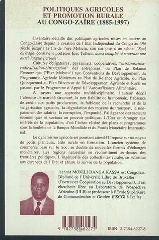 4eme Politiques Agricoles et Promotion Rurale au Congo-Zaire (1885-1997)