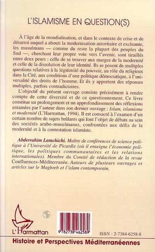 4eme L'ISLAMISME EN QUESTION(S)