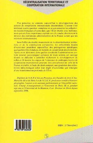 4eme Décentralisation Territoriale et Coopération Internationale