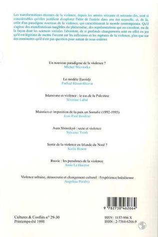 4eme UN NOUVEAU PARADIGME DE LA VIOLENCE (n° 29-30)