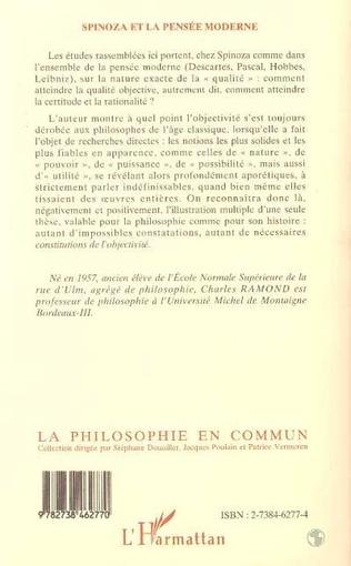 4eme Spinoza et la Pensée Moderne