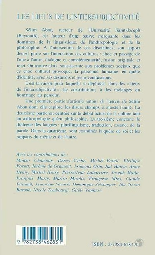 4eme Les Lieux de l'intersubjectivité