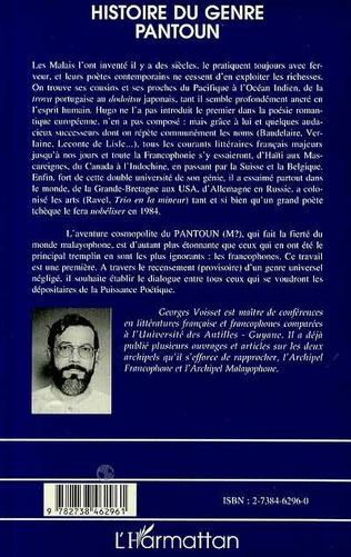 4eme Histoire du Genre Pantoun