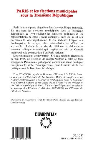 4eme Paris et les élections municipales sous la troisième République