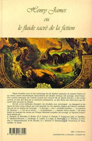 4eme Henry James ou le fluide sacré de la fiction