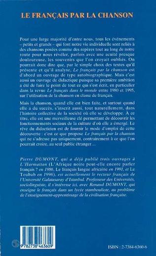 4eme Le Français par la Chanson