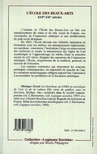 4eme L'ÉCOLE DES BEAUX-ARTS XIXème-XXème siècles