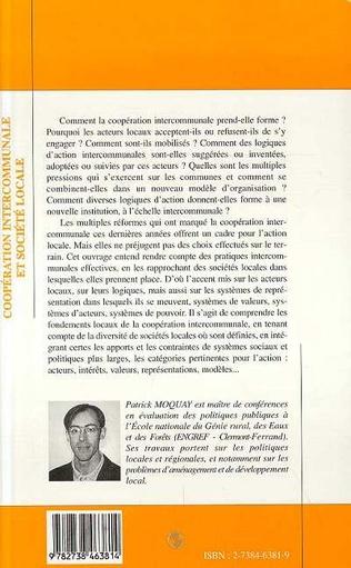 4eme Coopération Intercommunale et Société Locale