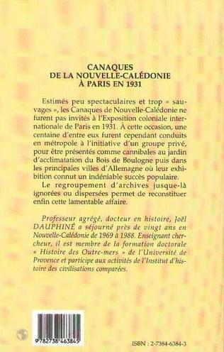 4eme Canaques de la Nouvelle-Calédonie à Paris en 1931