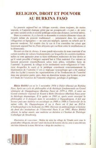 4eme Religion, Droit et Pouvoir au Burkina Faso