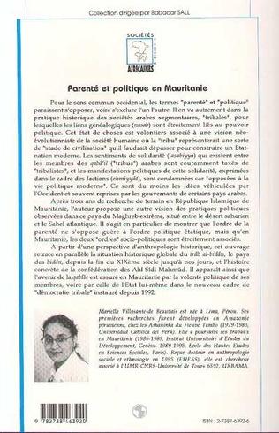 4eme Parenté et Politique en Mauritanie