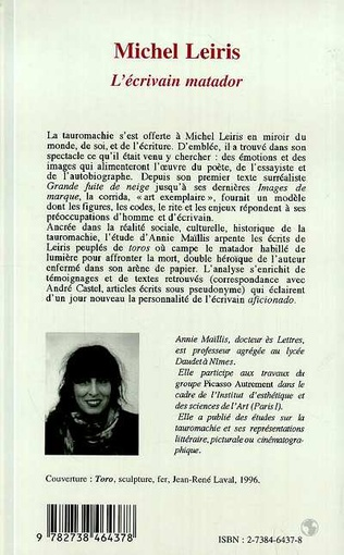 4eme Michel Leiris l'écrivain Matador