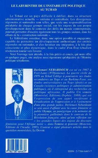 4eme Le Labyrinthe de l'instabilité Politique au Tchad