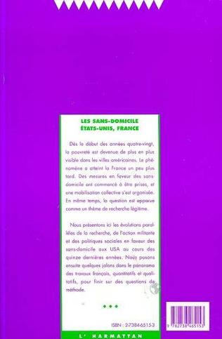 4eme Les sans-domicile en France et aux Etats-Unis