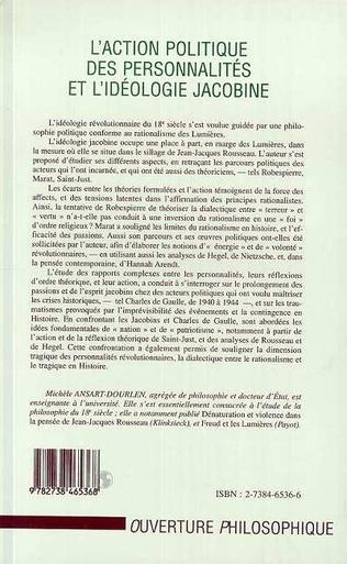 4eme L'action Politique des Personnalités et l'idéologie Jacobine