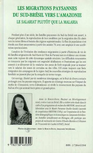 4eme Les Migrations Paysannes du Sud-Brésil vers l'Amazonie