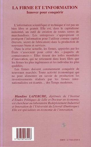4eme La Firme et l'information