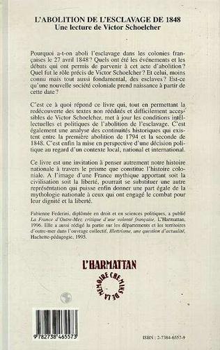 4eme L'abolition de l'esclavage de 1848