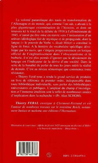 4eme Le National-Socialisme : Vocabulaire et Chronologie