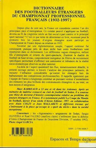 4eme Dictionnaire des footballeurs étrangers du championnat profe