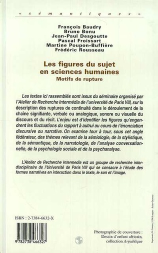 4eme Les Figures du Sujet en Sciences Humaines