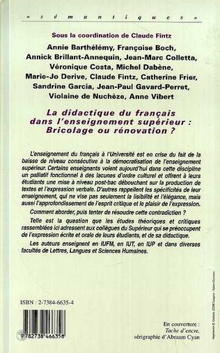4eme La Didactique du Français dans l'enseignement Supérieur : Br