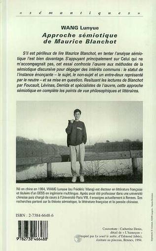 4eme Approche Sémiotique de Maurice Blanchot