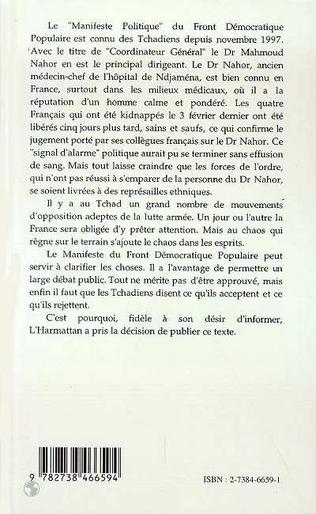 4eme Manifeste Politique pour une Action Civique Citoyenne et Démocratique -Tchad