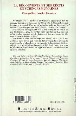 4eme La Découverte et ses Récits en Sciences Humaines