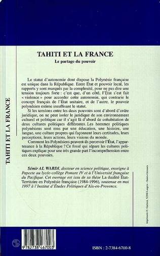 4eme Tahiti et la France