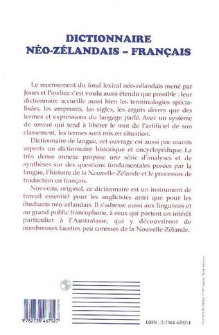 4eme Dictionnaire Neo-Zelandais-Français
