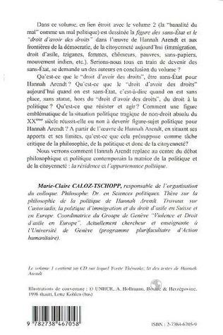 4eme Hannah Arendt, les Sans-Etat et le