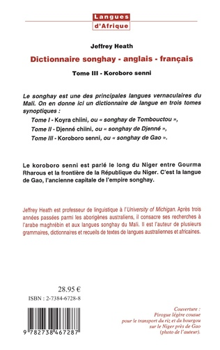 4eme Dictionnaire Songhay-Anglais-Français