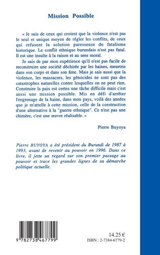 4eme Mission possible : construire une paix durable au Burundi
