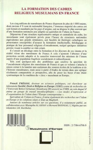 4eme La Formation des Cadres Religieux Musulmans en France