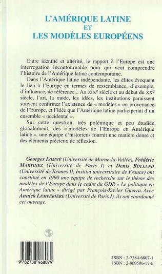 4eme L'amérique Latine et les Modèles Européens