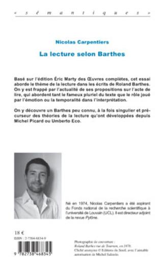 4eme LA LECTURE SELON BARTHES