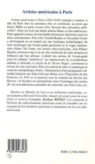 4eme ARTISTES AMÉRICAINS À PARIS 1914-1939