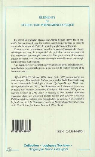 4eme Éléments de Sociologie Phénoménologique