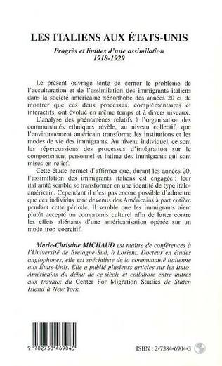 4eme LES ITALIENS AUX ETATS-UNIS 1918-1929