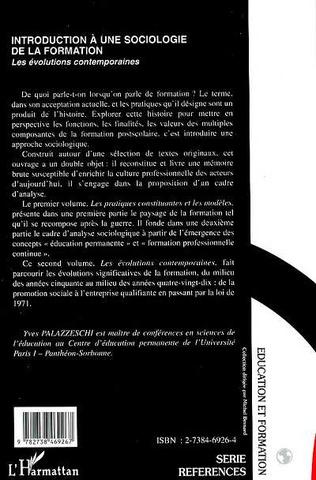 4eme Introduction à une Sociologie de la Formation