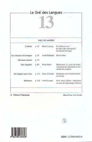 4eme Le gré des langues n°13