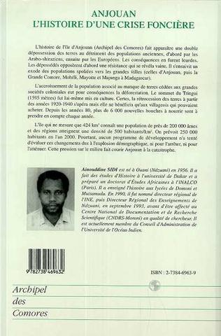 4eme Anjouan l'histoire d'une crise foncière