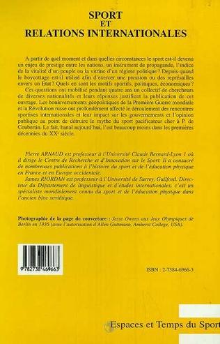 4eme Sport et Relations Internationales (1900-1941)