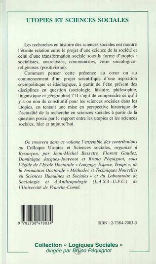 4eme Utopies et Sciences Sociales