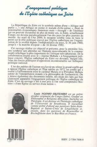 4eme L'engagement politique de l'église catholique au Zaire