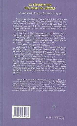 4eme La Féminisation des Noms de Métiers